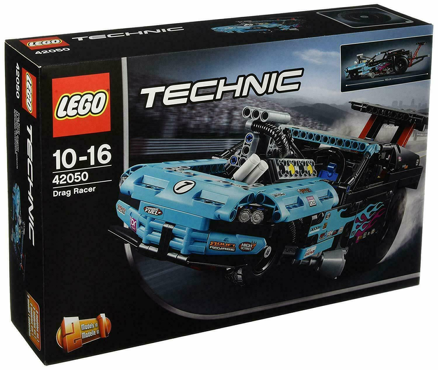 LEGO - 42050 - Technic Drag Racer Car - BOXED WITH INSTRUCTIONS - NOW RARE