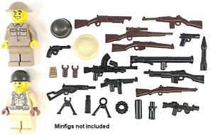 BRICKARMS WWII ALLIES Pack V2 for Minifigures Limited Edition Weapons NEW