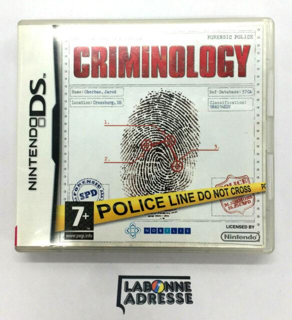NINTENDO DS JEU VIDEO CRIMINOLOGY - COMPLET