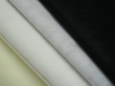 "150cm 60/"" Wide Stiff Tutu Net Netting Veile Tulle Fabric White Black"