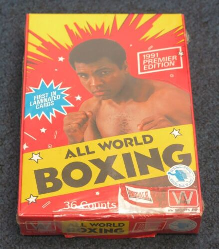 1991 ALL WORLD SPORTS BOXING SEALED BOX+1991 RINGLORDS MUHAMMAD ALI BOXING CARD