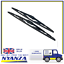 2-x-16-Inch-Brand-New-Conventional-Windscreen-Standard-Wiper-Blades thumbnail 1