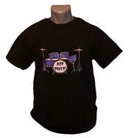 Just Beat It T-shirt Mens Black M-xxl Drum Set Kit Drummer Music Rock Band