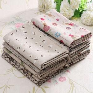 25 Styles 50x75cm DIY Vintage Cotton Linen Fabric Cloth Handmade Patchwork