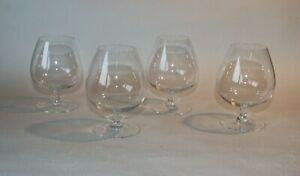 CB1-2-4x-Glas-Cognac-Glaeser-Schwenker-geschliffen-Lotus-Bar-Tasting-1950er-50s
