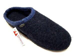 sneakers for cheap 17106 1e7de Dettagli su GIESSWEIN DANNHEIM nachtblau blu pura lana ciabatte pantofole  uomo donna unisex