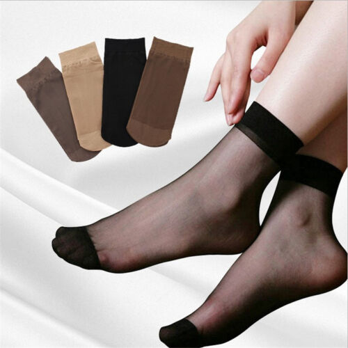 10 x Pairs Sheer Transparent Ankle High Trouser Pop Socks ONE SIZE UK 4-7