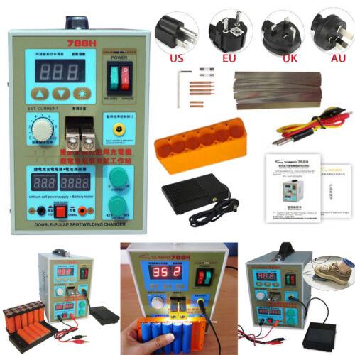 SUNKKO 788H Spot Welder 60A LED Dual Pulse 18650 Battery Solder Welding Machine