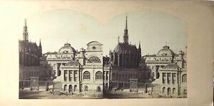 FRANCE-Paris-Palais-de-Justice-Photo-PL62L1-Stereo-Vintage-Albumine-ca-1860