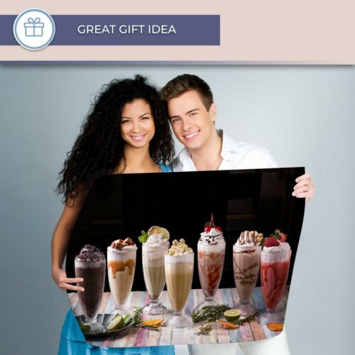 A1 Milkshakes Chocolate Vanilla Cafe Poster 60X90cm180gsm Print #21457