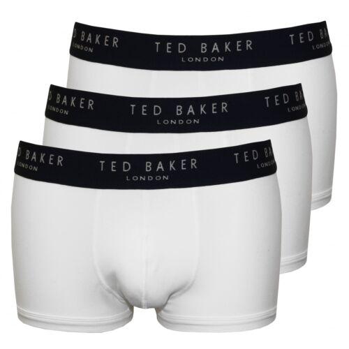 Ted Baker 3-Pack Contrast Waist Men/'s Boxer Trunks White