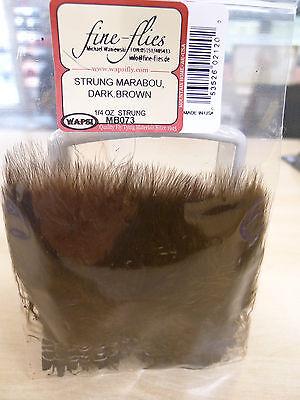 Marabou strunggenäht Wapsi USA 7 Gr. DARK BROWN