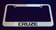 2 CHEVROLET CRUZE LICENSE PLATE FRAME, CUSTOM MADE OF CHROME 2 Frames