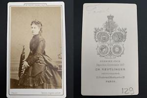Reutlinger-Paris-Marie-Favard-actrice-Vintage-carte-de-visite-CDV-Pierret