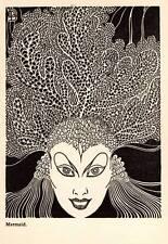 """1944 Original Don Blanding Art Deco Vintage Print """"Mermaid"""""""