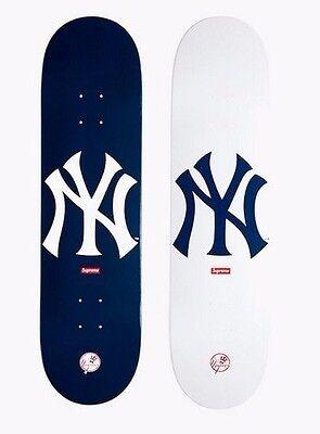 SUPREME x New York Yankees '47 Brand Skateboard Deck Navy camp box logo S/S 15