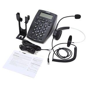 Telephone-Fixe-Centre-en-Appels-Call-Center-avec-Ecouteurs-Cable-de