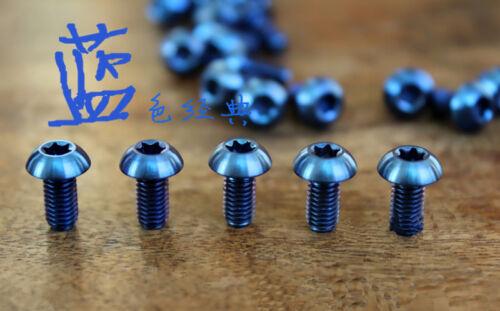 12Pcs Titanium M5 x10mm Torx Half Round Head Screws Disc Brake Rotor Bolts