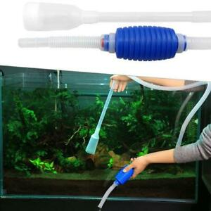 Aquarium Gravel Cleaner Vacuum Pump Syphon Kit For Fish Tank Water Filter Tool Ebay