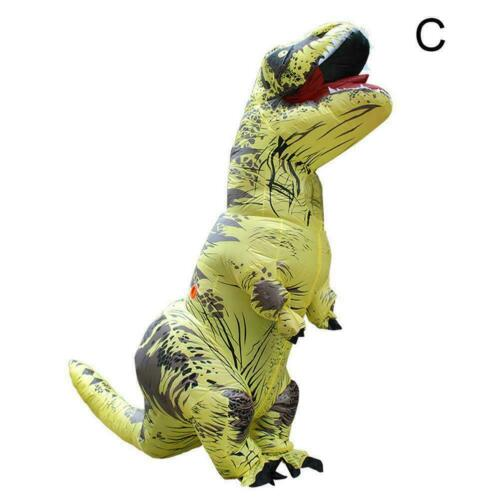T-REX Inflatable Dinosaur Costume Jurassic Blow up Kids Outfit Christmas Ad U3D5