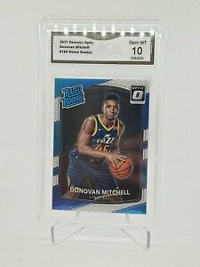 2017 Panini Optic Donovan Mitchell Rated Rookie GMA 10 possible PSA 10