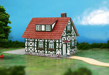 Deutsch Family House N Scale Building DIY Paper Cutout Kit