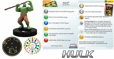 #043 #43 The Incredible Hulk HeroClix Super Rare OUTBACK HULK