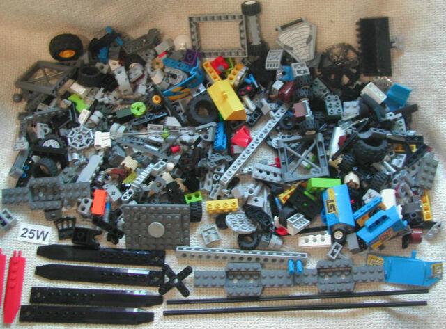 Random Joblot LEGO 50 x Grey Bricks Tiles Plates Technic Pieces