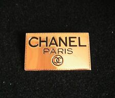 Vintage 1980s CHANEL Gold w/Black COCO PARIS - Pin Brooch