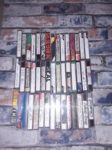 Joblot of 45 Mixed pre-used Cassette Tapes For Home Recording.