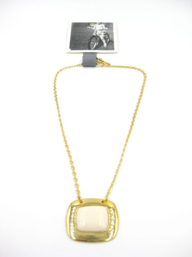 Elegant New Gold Pendant Necklace with Center Stone by Anthropologie NWT #ANT40
