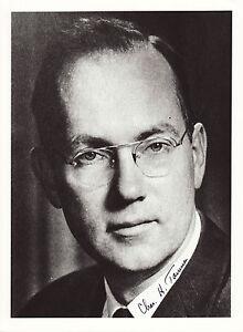Charles Hard Townes Originalautogramm auf Großfoto Nobel Physik 1964 autograph