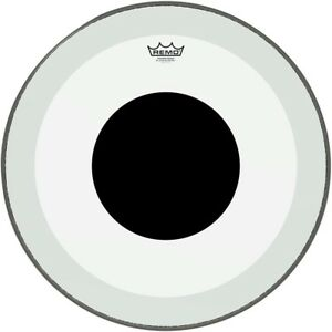 Remo-Powerstroke-3-Clear-Bass-Drum-Head-with-Black-Dot-22-in