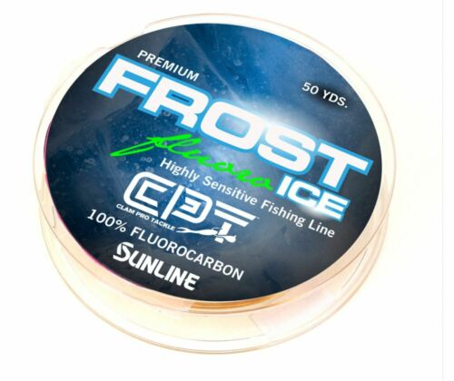 Clam FROST ICE Fluorocarbon Metered Ice Fishing Line Fluorescent Clear 8 LB Test