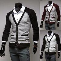 Men's Jumper Cardigan Brave Soul Knit V-neck Knitwear Sweater Pullover New A8921