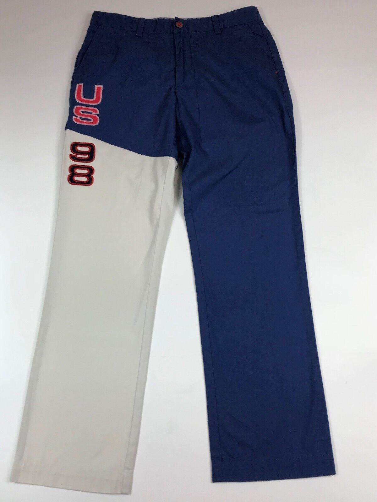 Vineyard Vines Mens US 98 Embroidery Slim Fit Breaker Pants Size  W30 L30