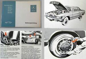 Mercedes-Benz-350SL-350SLC-450SL-450SLC-Original-1973-Betriebsanleitung-R107
