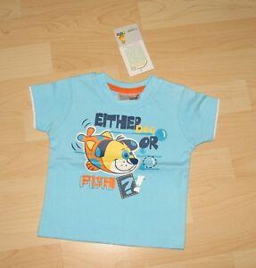 Sommer: Baby Kleinkind Jungen Shirt T-shirt Gr. 68 - Neu Mit Etikett - Fisch Schrumpffrei