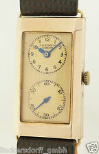 ART DECO DOCTORS WATCH - J W BENSON LONDON - ARMBANDUHR IN 9kt GOLD 1930er JAHRE