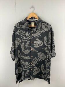 Jamaica Jaxx Men's Vintage Short Sleeve Hawaiian Shirt - Black - Size XL