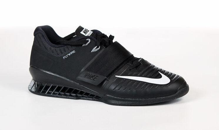 Nike Romaleos 3 TRIPLE Noir 852933-002 14 WEIGHTLIFTING TRAINING GYM CROSSFIT