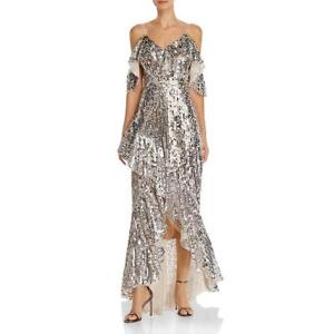 Laundry by Shelli Segal Womens Mesh Sequined Formal Evening Dress Gown BHFO 3970