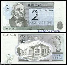 ESTONIA 2 krooni 2007 Pick 85 SC UNC