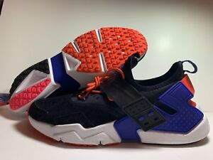 NEW-Nike-Air-Huarache-Drift-PRM-Black-Violet-Purple-Orange-AH7335-002-Men-039-s