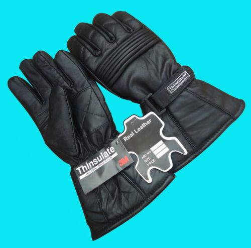 XXS Gants doublure thermique L M XL Hiver Thinsulate Chaud Noir XXL XS S