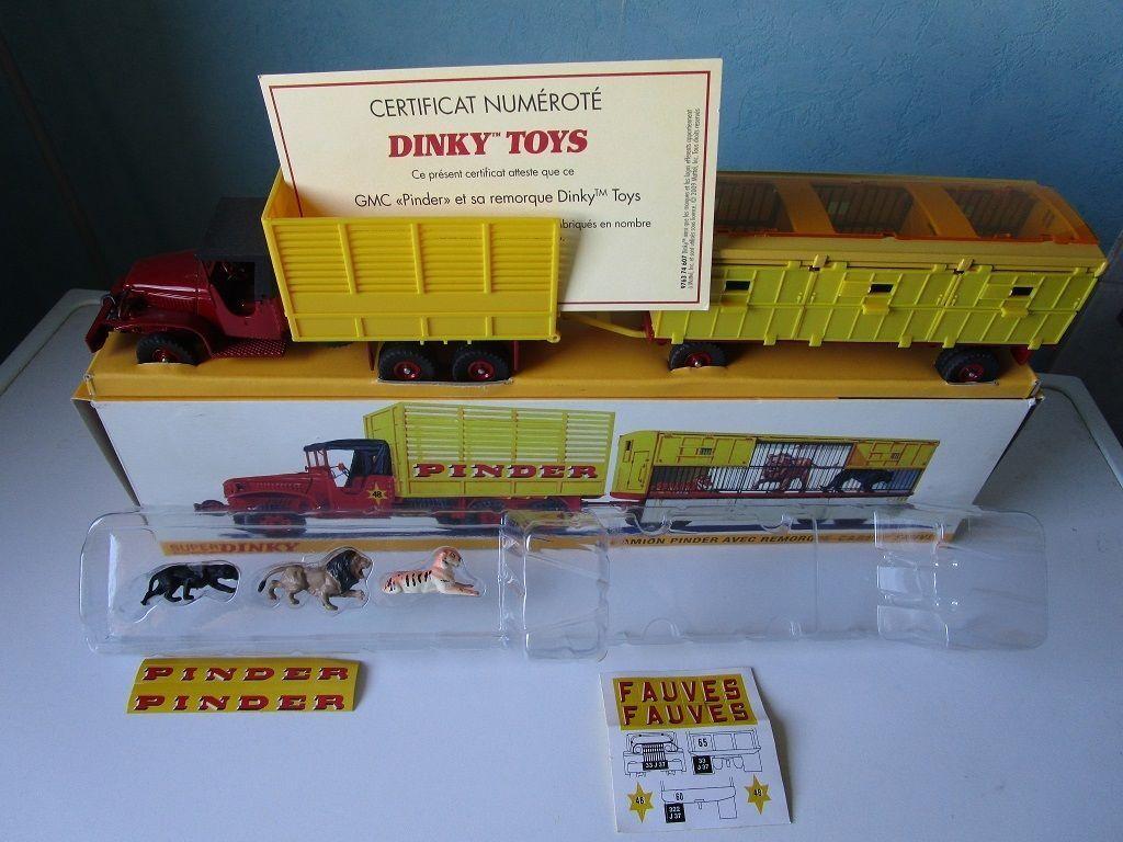 GMC Pinder + Remorque Fauves complet Dinky Toys Atlas Etat Neuf
