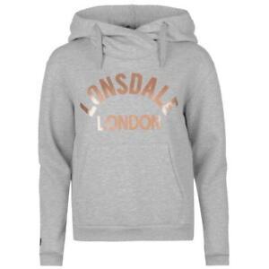 London Felpa Grigio Lonsdale da donna PqpXv