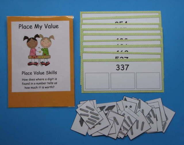 Teacher Made Math Center Resource Game Kit Finding Place Value