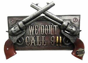 gun weapon bullet tin metal sign living room decor ideas US SELLER