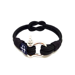 Nautical-Rope-Bracelet-Sailing-Men-Women-Handmade-Reef-Knot-bracelet-BLACK